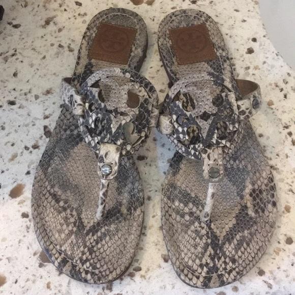 55378c1bb 🌺Tory Burch Miller sandals snakeskin 8 1 2 8.5. M 5a492b0e3a112e056701257a